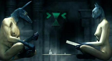 Anubis e Bastest giocani a monopoli